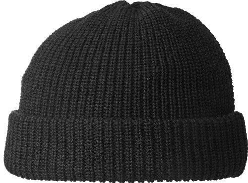 Fiebig Mütze in 100% Wolle Seewasserfest!, Farben:schwarz