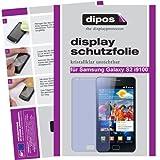 dipos Protector de pantalla para Samsung Galaxy S2 I9100 (2 unidades) - claro pelicula protectora de pantalla