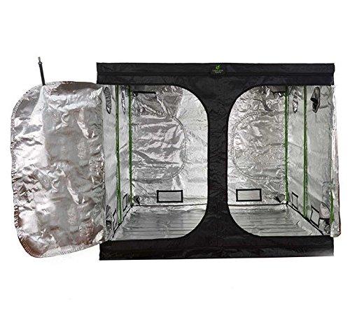 Green Box 2.4m x 2.4m x 2m PRO Grow Tent Silver Mylar Hydroponics Room