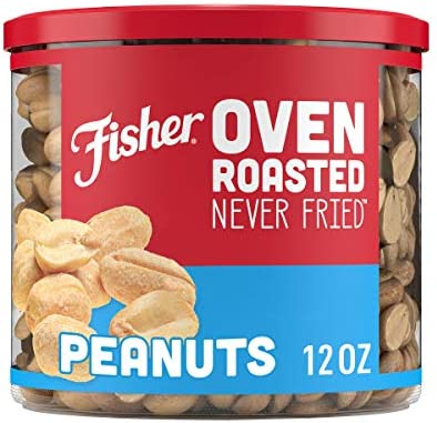 Fisher Snack Oven Roasted Never Fried Made with Sea Salt Peanuts 12 Ounce product image