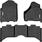 YITAMOTOR Floor Mats Compatible with Ram, Custom Fit Floor Liners for 2019 Ram 1500 Classic Crew Cab, 2012-2018 Dodge Ram 1500/2500/3500 Crew Cab, 1st & 2nd Row All Weather Protection, Black