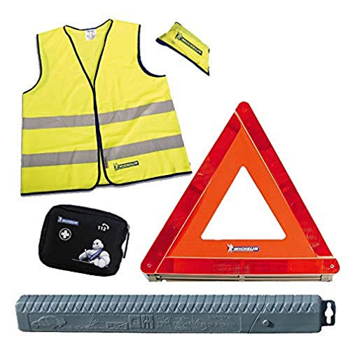 MICHELIN 995941 sécurité Automobile (Triangle de signalisation, Gilet réfléchissant, kit de Premiers Secours)