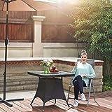 SONGMICS Gartenstuhl Klappstuhl Outdoor-Stuhl mit robustem Aluminiumgestell - 9