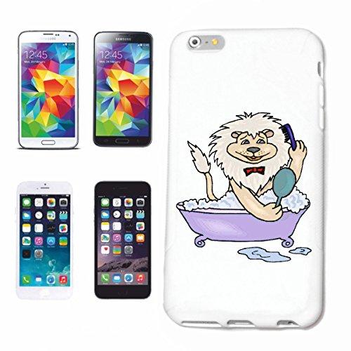 Bandenmarkt telefoonhoes compatibel met Samsung Galaxy S5 Mini leeuw in de badkuip cartoon plezier fun cult film top cartoon plezier fun cult film to hardcase bescherming