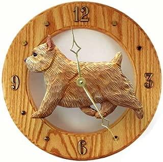 Michael Park GRIZZLE Norwich Terrier Wall Clock in Light Oak by