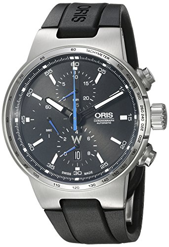 Oris uomo 'Williams F1' Swiss orologio automatico in acciaio INOX e gomma...