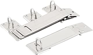 uxcell Stainless Steel Door Cupboard Cabinet Clasp Lock Padlock Latch Hasp Staple 4 Sets