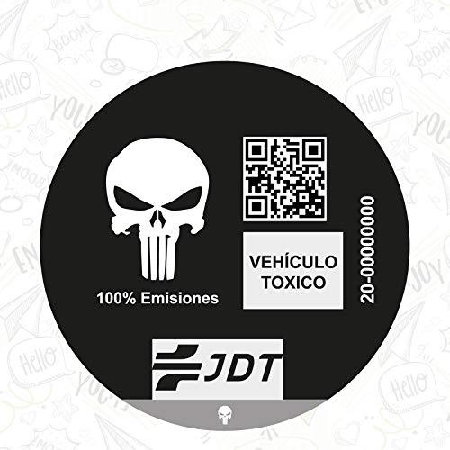 CUAC REVOLUTION Vinilo Adhesivo Pegatina Sticker Distintivo Ambiental Coche VEHICULO TOXICO JDT