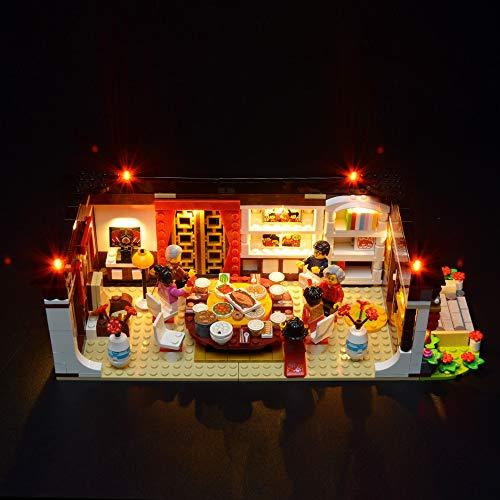 BRIKSMAX Led Beleuchtungsset für Chinese New Year Dinner, Kompatibel Mit Lego 80101 Bausteinen Modell - Ohne Lego Set
