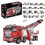 Morton3654Mam Technique de pompier - Modèle de véhicule de sauvetage - 5030 pièces - RC - Véhicule de secours - Véhicule avec moteur MOC - Briques de montage compatibles avec Lego