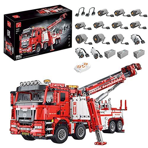 Tewerfitisme 5030 pezzi, tecnica Mould King, per camion dei pompieri, modello Kran con motore, compatibile con tecnica LEGO