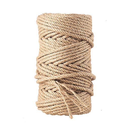 KONVINIT Sisalseil für Kratzbaum Katzen Natürlich Sisal Seil Langlebig Reparatur Bedarf Katzen Kratzbaum 4mm,6mm,8mm Länge 20m,30m,50m