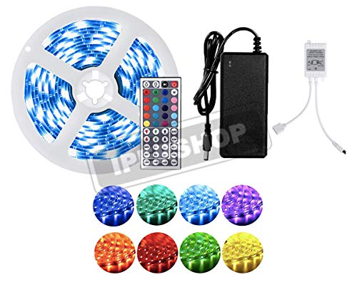 LED Striscia 5M RGB 5050,Duractron led striscia 150 led per Natale,Feste, Decorazioni.(Non Impermeabile) [Classe di efficienza energetica A]