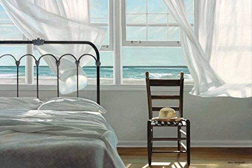 Kunstdruck auf LEINWAND im SCHATTENFUGENRAHMEN Hollingsworth- Karen Der Traum vom Wasser Leinwandbilder im moderner Holzrahmen Küsten Horizontal cm_78_X_118