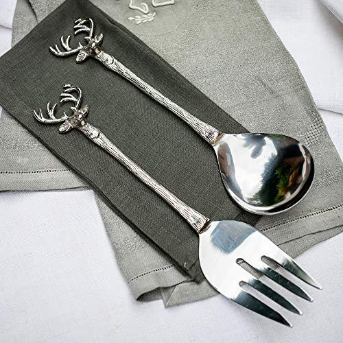Culinary Concepts - Posate per insalata con testa di cervo