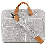 Lacdo 15.6 Zoll 360° R&umschutz Laptop Schultertasche Hülle für 15.6
