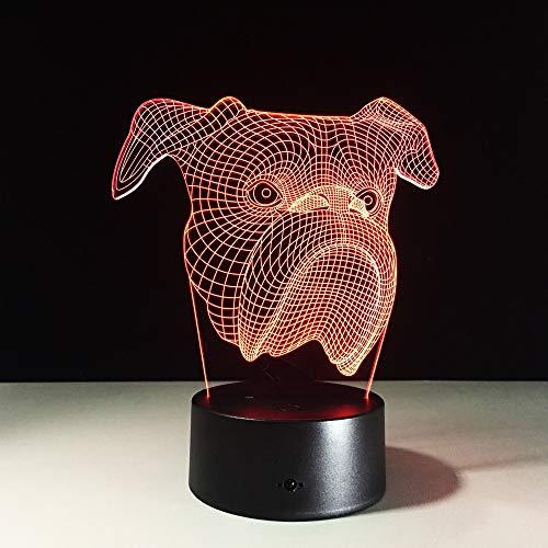 Lámpara Linda luz de Noche para Perros Tipo de Cambio de Color...