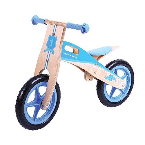 Bigjigs Juguetes Mi Primera Bicicleta de Equilibrio (Azul)