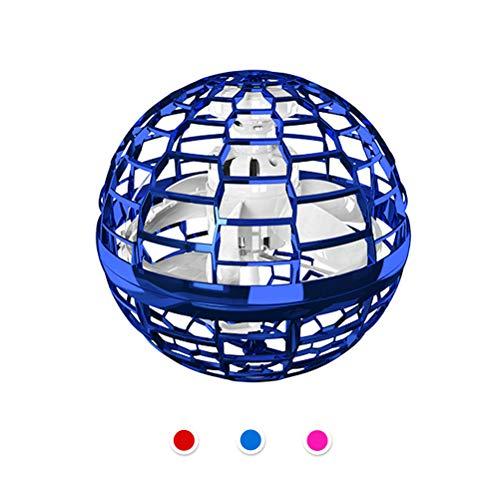 buycheapDG(JP) フライングボール ドローン ボール 360°回転 フライングスピナー ブーメランスピナー マジックコントローラーヘリコプターおもちゃ 手動ドローン ミニドローン 球状飛行ジャイロ スピニング LEDライト付き 超軽量 子供/大