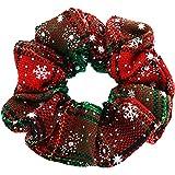 Hidyliu Coleteros para el pelo de Navidad, bandas elásticas suaves para el pelo, cuerdas de algodón suave para mujeres, accesorios para el cabello para niñas y mujeres, 5 estilos