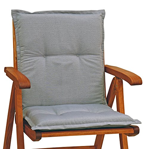 Auflagen für Sessel Mittellehner 105 cm Lang Dessin Rio 50318-711 in Grau Ohne Sessel (1)