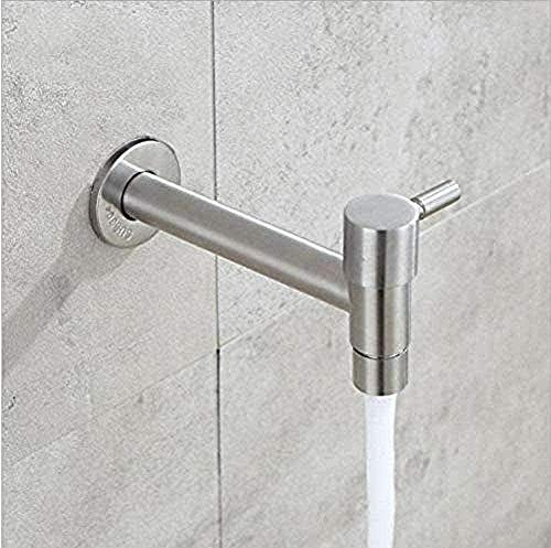 WNBNKSN Garden Faucet Faucet Wall Mounted Faucet 304 Stainless Steel Quickly Openable Garden Faucet Cold Water Tap Mop Pool Washing Machine Faucet Outdoor Tap