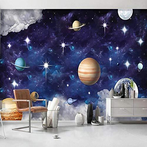 Behang met 3D-vliesbehang, romantisch fotobehang, gepersonaliseerd fotobehang, 3D-sprei, planeet, slaapkamer, achtergrond voor kinderen, behang, voor muren 430*300