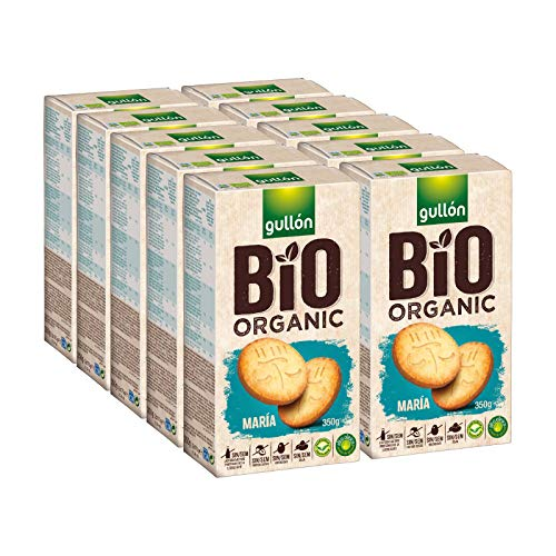 Gullón - Galleta María BIO Organic vegetarianas, 3.500 g, Pack de 10