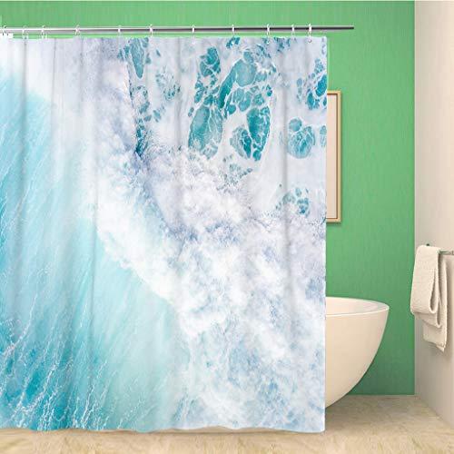Awowee Decor douchegordijn Blue Line Amerikaanse Police Vlag dun leeft materie wet 180x180cm polyester stof waterdichte bad gordijnen Set met haken voor badkamer