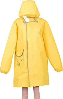 LHY- Raincoat S/M/L Children's raincoat Boys and Girls Poncho Child with a Bag Waterproof raincoat Convenient (Color : Yellow, Size : M)