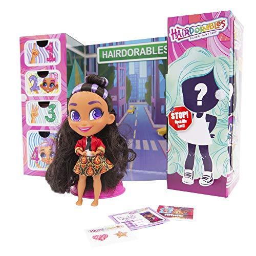 Hairdorable, Puppe (Serie 2) mit 11 Überraschungs-Accessoires, Friseurhaar, zufällige Modelle, 26 Puppen zum Sammeln, Spielzeug für Kinder ab 3 Jahren, HAA03