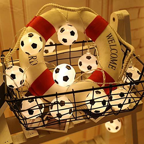 GLITZFAS LED Fußball Lichterkette, Stimmungslichter ideale Weihnachtsbeleuchtung für Innen, Zimmer, Party, Deko usw. (5M-50 Lichter)