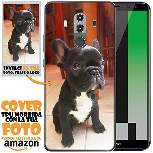 N NEWTOP Cover Custodia per Huawei TPU Morbida Personalizzata con Tua Foto Immagine Scritta Stampa Altissima qualità Fotografica Processo UV (per Mate 10 PRO)