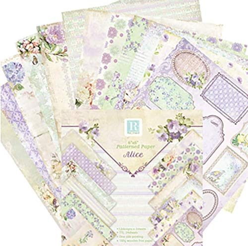 Shuny 72 PCS Papel Decorativo,Papel de Papel de Carta Decorativo Papel Estampado para DIY Paper Decorativa Manualidades(15.2x15.2cm)