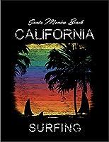 【FOX REPUBLIC】【レインボー サンセット サンタモニカ カリフォルニア】 黒マット紙(フレーム無し)A2サイズ
