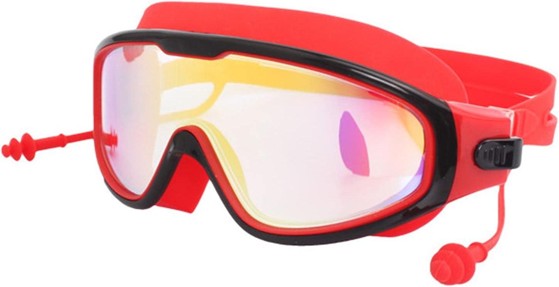 Gafas De Natación HD con Tapones para Los Oídos Bajo El Agua Adultos Antiiezca Glasses Negro Profesional Gafas De Buceo Mujer Equipo De Protección