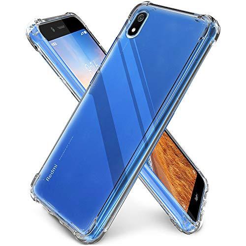 QHOHQ Funda para Xiaomi Redmi 7A, TPU Premium con Cuatro Esquinas de protección Funda de Silicona para Xiaomi Redmi 7A (Transparente)