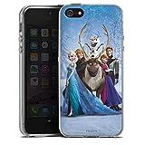 Coque en Silicone Compatible avec Apple iPhone 5s Étui Silicone Coque Souple Disney La Reine des Neiges Cadeaux pour Supporters