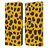 Head Case Designs Yellow Spots Mad Print 2 Leather Book
