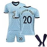 Jersey De Fútbol The Blue para Chicos para Hombre, Hudson-Odoi # 20 Formning Football Shorts Camise, Camiseta Deportiva De Local/Visitante 2021, Formning Football Light Blue#20-26