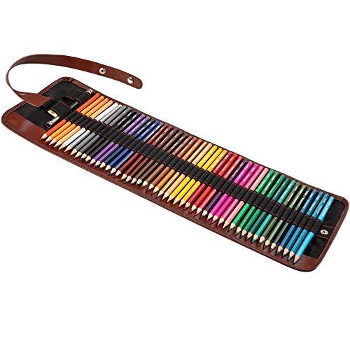 Lapices Colores Profesionales Lapices de Dibujo, KidsPark 51Pieza Kit Dibujo con 48Pieza Lápices de Colores y Material de Dibujo en Estuche, Set de Dibujo para Niños Artistico