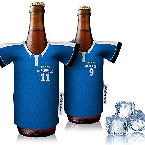 vereins-Trikot-kühler Home für Armina Bielefeld Fans | 2er Fan-Edition| 2X Trikots | Fußball Fanartikel Jersey Bierkühler by Ligakakao