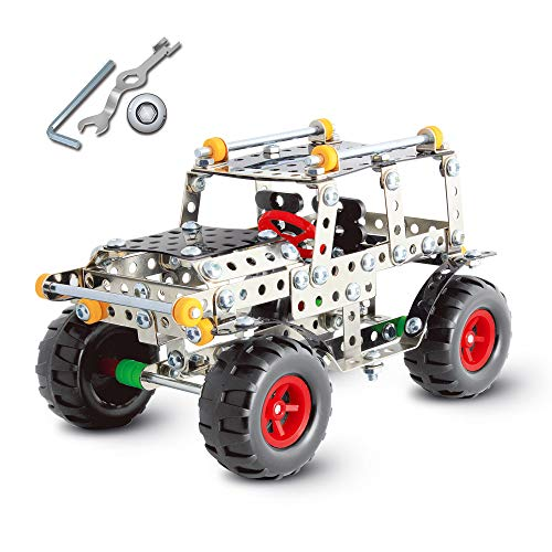 RVEE STEM Metal Erector SUV Car Set Building Model Construction Vehicle Toy for Kids Boys Adults 8 Years and up Engineering Series