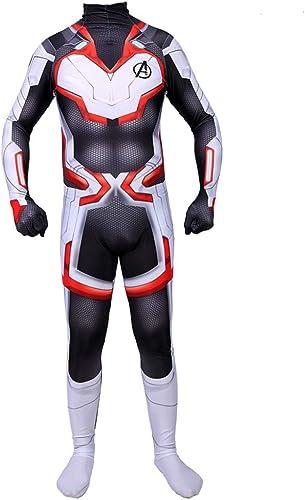 WEGCJU Supérieure Quantum Warfare Cosplay Costume Superhero Outfit Body Combinaisons Tenue Imprimé 3D Hero HalFaibleeen Cosplay,S