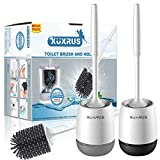 Best Toilet Brushes - XUXRUS Toilet Brush and Holder 2 Pack,Silicone Toilet Review