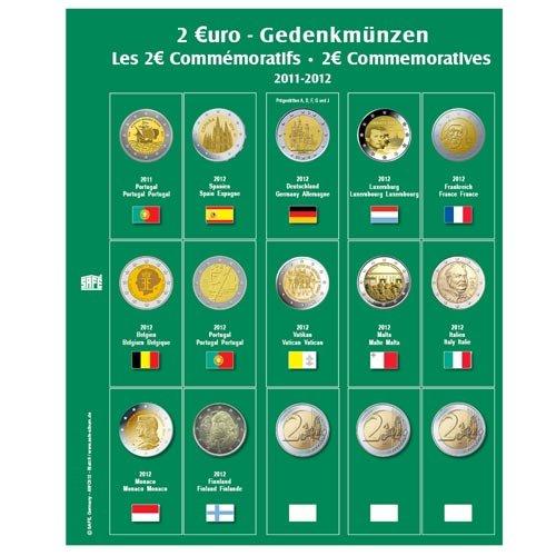 1 x SAFE 7341-10/2 EUROMÜNZEN Premium Vordruckblatt Nachtrag 2013 + 1x 7393 Ergänzungsblatt Münzhüllen für das SAFE 2 EURO Münzalbum 7341