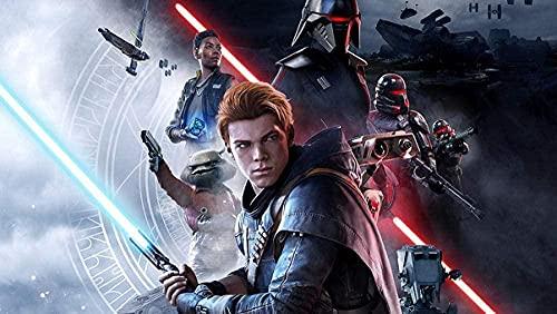 NSRJDSYT Rompecabezas - 1000 Piezas 2019 Star Wars Jedi Fallen Order Rompecabezas para Adultos y niños - Divertido Juego Educativo Familiar (38 x 26 cm)