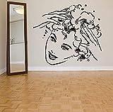 adhesivos de pared extraíbles para la cabeza del salón de belleza para niña Barbier Living Wallpaper papel tapiz de vinilo 65X57cm
