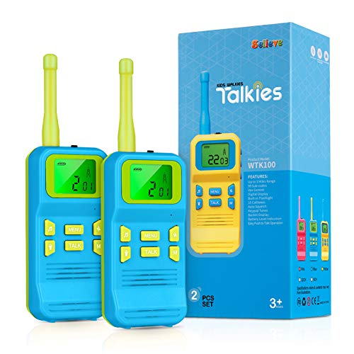 Selieve Gifts for 3-5 Year Old Boys, Kids Outdoor Toys 2 Way Radios 22 Channels 3 KMs Long Range with Backlit LCD Flashlight, Christmas Birthday Toys for 3-12 Year Old Boys or Girls