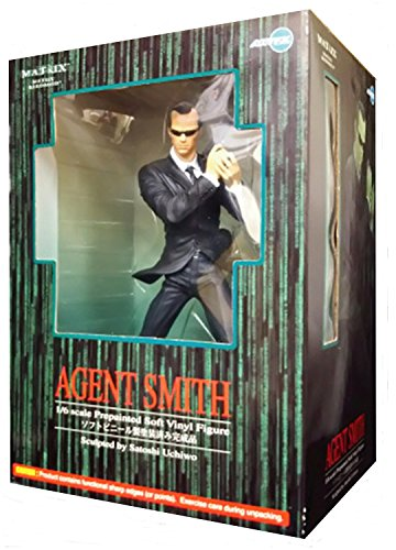 Matrix Reloaded Agent Smith Prepainted Soft Vinyl Figure 1/6 Scale